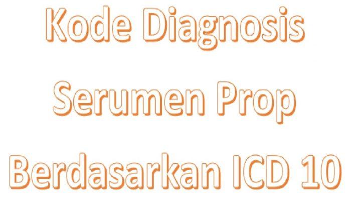 Kode icd 10 serumen prop telinga