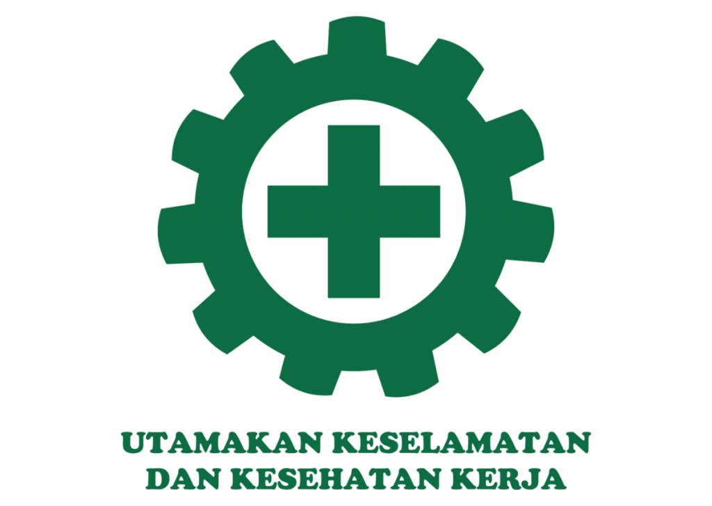 Gambar logo utamakan keselamatan dan kesehatan kerja vector