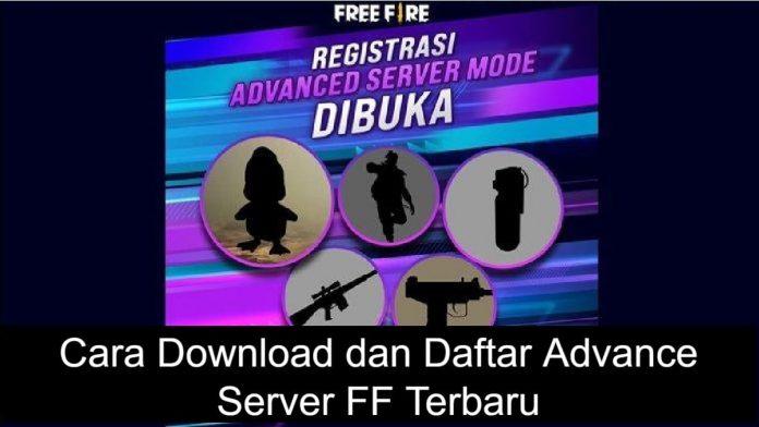 Cara Download dan Cara Daftar Advance Server FF
