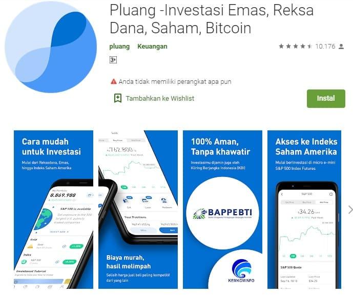 Aplikasi Pluang investasi emas apakah aman