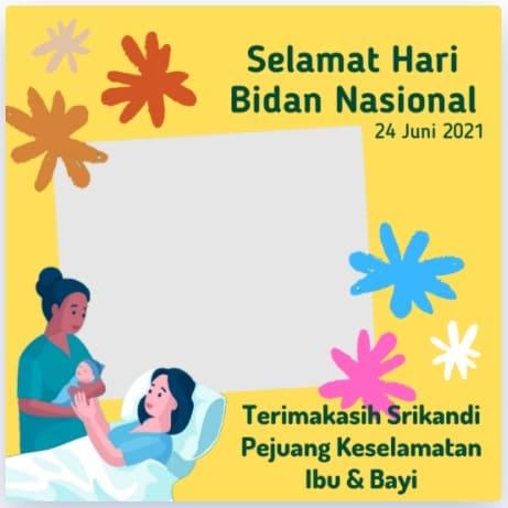 download bingkai foto hari bidan nasional
